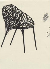 Incredibly detailed early drawing of the vegetal chair
