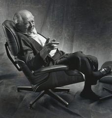 Billy Wilder in his gifted Eames Lounge Chair