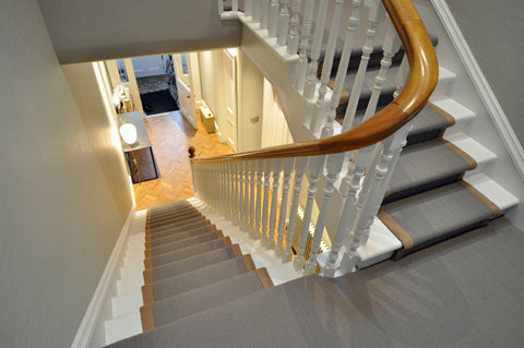 Stair runner with landing - WB Jamieson