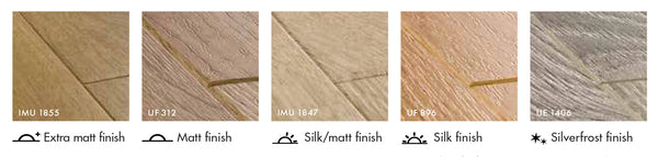 Finishing options of Quick-Step flooring