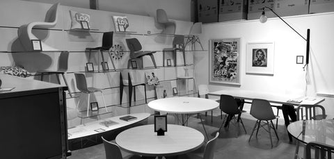 The Vitra Display at WB Jamieson Showroom Aberdeen