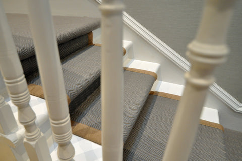 Looking at the carpet stair runner through the bannister - WB Jamieson