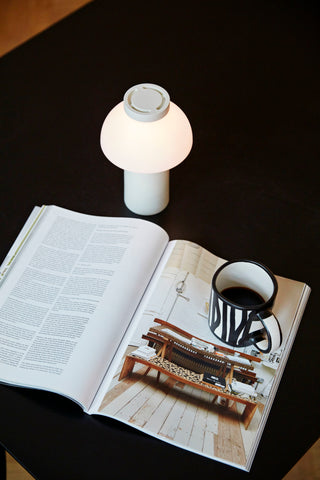The HAY PC Portable lamp used as a reading light - WB Jamieson