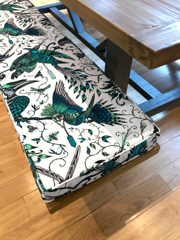 Upholstered bench from WB Jamieson