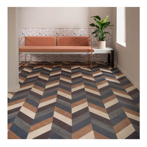 The Amtico Colour Edit Signature collection with a bold pattern