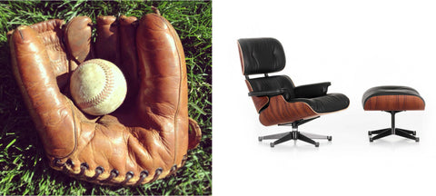 Baseball mitt inspiration and Eames Lounge chair