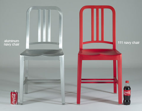 The Emeco x Coca-cola Navy 111 chair