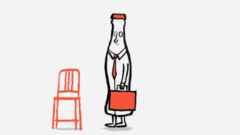 Emeco x Coca-cola - Recycled Plastic Navy 111 chair - illustration by Jean Julien