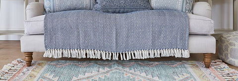 Weaver Green hand woven throw