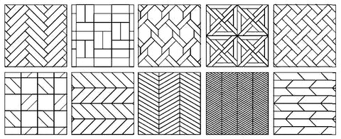 example of different parquet laying patterns