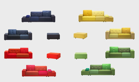 The Polder Sofa in a variety of colour options