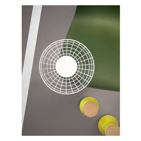 Wimbledon inspired theme including furniture from Vitra, and accessories from Established and Sons and Menu furniture