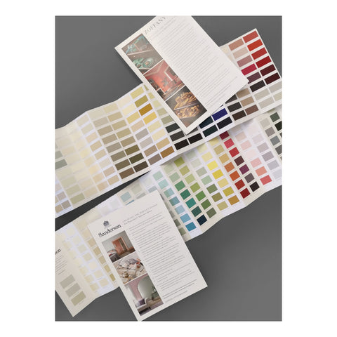 Zoffany and Sanderson colour charts - Paint - WB Jamieson