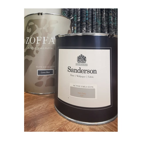 Premium paint from Sanderson and Zoffany - WB Jamieson interiors - Paint
