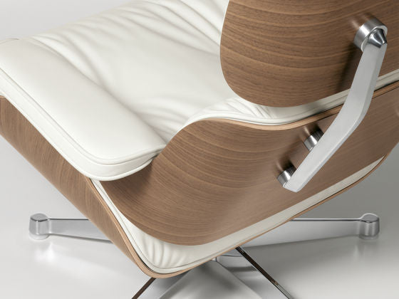 Detail Of Armchair Vitra Eames Leather And Moulded Plywood Lounge Chair  Ottoman From WB Jamieson Original