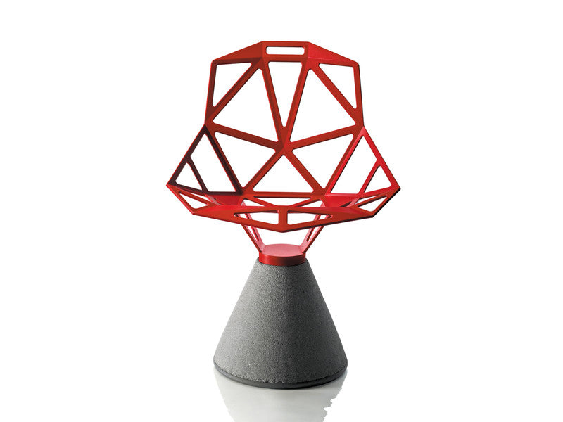 Magis - Chair One (Concrete Base) Red - In Stock - ready to ship - Magis - WB Jamieson
