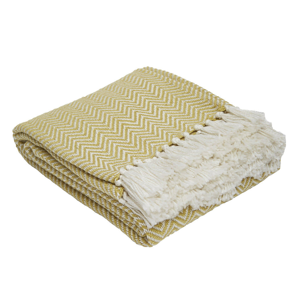 Weaver Green - Herringbone Blanket - Accessories - Weaver Green - WB Jamieson