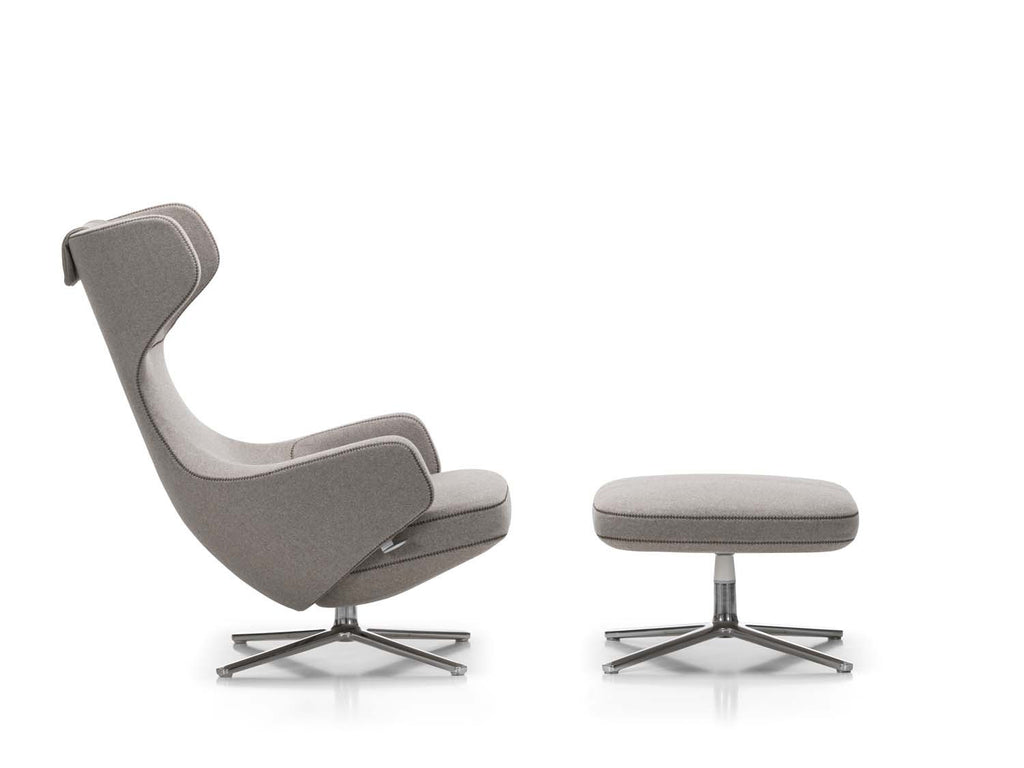 Vitra - Grand Repos & Ottoman - Anthracite Dumet - In Stock - ready to ship - Vitra - WB Jamieson