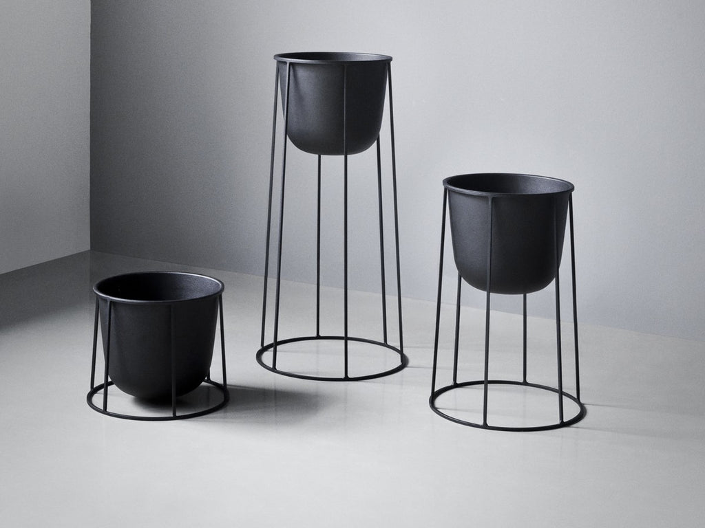 Menu - Wire Plant Pot (Black) - In Stock - ready to ship - Menu - WB Jamieson