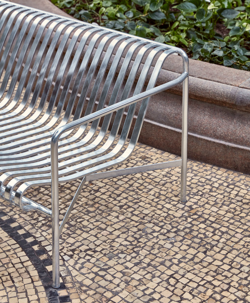 HAY - Palissade Dining bench - Hot Galvanised - Chairs & stools - HAY - WB Jamieson
