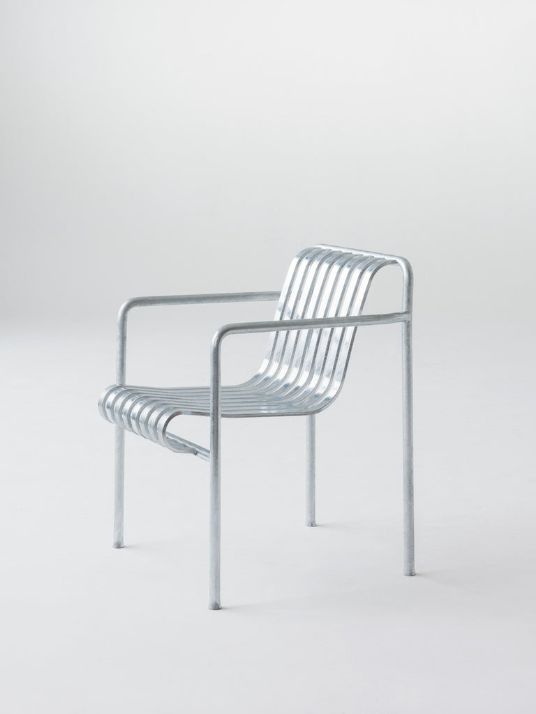 HAY - Palissade Dining Armchair - Hot Galvanised - Chairs & stools - HAY - WB Jamieson