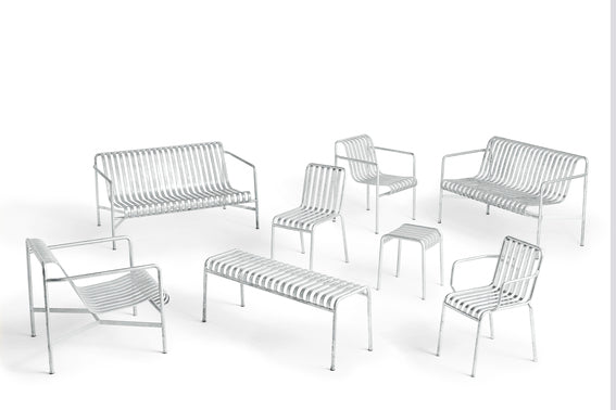 HAY - Palissade Lounge Chair Low - Hot Galvanised - Chairs & stools - HAY - WB Jamieson