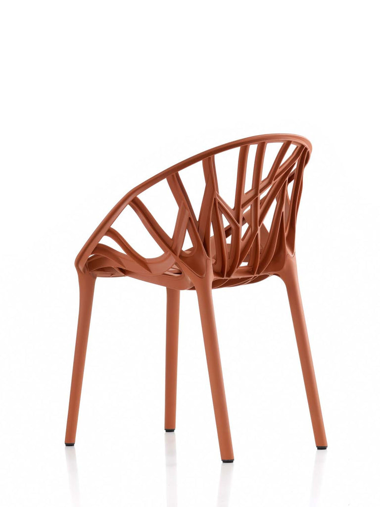 Brick colourway of the Vitra Vegetal chair from WB Jamieson. UK furniture and interior design specialists.