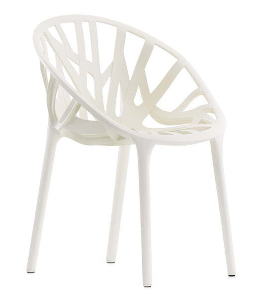 White Vitra vegetal chair takes inspiration from organic shapes. Available from WB Jamieson. UK furniture and interior deign specialists.