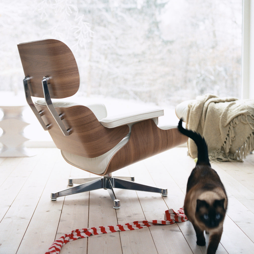 Wundervoll Eames Lounge Chair U0026 Ottoman (Walnut White Pigmented)