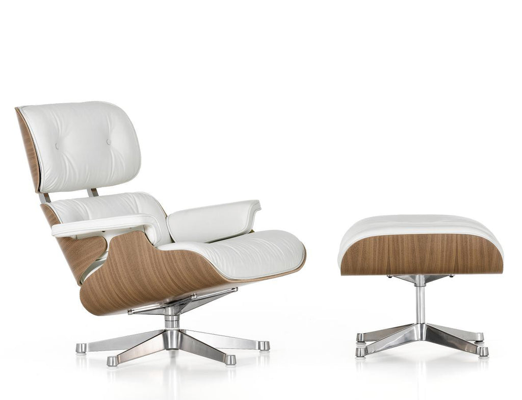 *SPECIAL OFFER* Eames Lounge Chair & Ottoman - Varnished Walnut/Off-White - Chairs & stools - Vitra - WB Jamieson