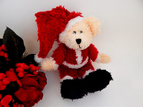 Boyds Bear Mr Santa Hugglefluff 8 Inch Stuffed Plush Animal Collectible Baby Toy Christmas Decoration