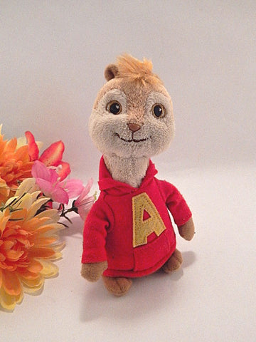 "Alvin Chipmunk Plush Stuffed Animatl TY Collectible Pop Culture 6"" Bean Bag Toy"