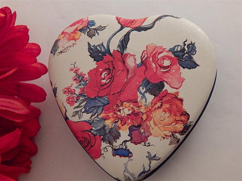 Floral Heart Box Metal Storage Container Vintage Potpourri Press Home Decor Gift Box