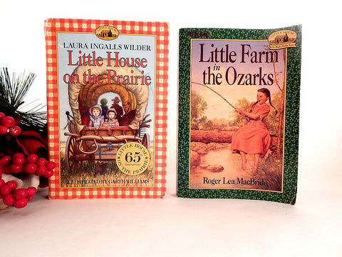 Little House on the Prairie and Little Farm in the Ozarks Books Elementary Girl's Paperback by Laura Ingalls Wilder and Roger Lea MacBride