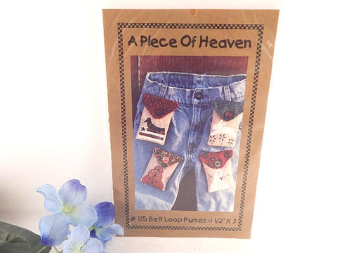 Belt Loop Purses Sewing Craft Pattern Folk Art Pouch A Piece of Heaven Accessory Pattern