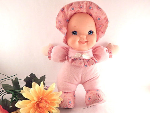 Baby's First Giggles Doll Girls Toy Baby Doll by Goldberger Soft Fabric Cuddly Doll