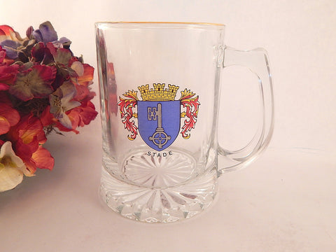 Stade Germany Travel Souvenir Beer Mug Clear Pub Home Bar Glass Beverage Serving Cup