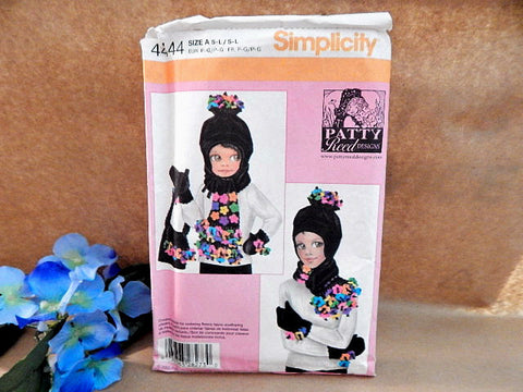 Girls and Misses Scarf Hat Mittens and Purse Sewing Pattern Uncut  Simplicity 4444 Accessories Size Small to Large Patty Reed Designs 2005