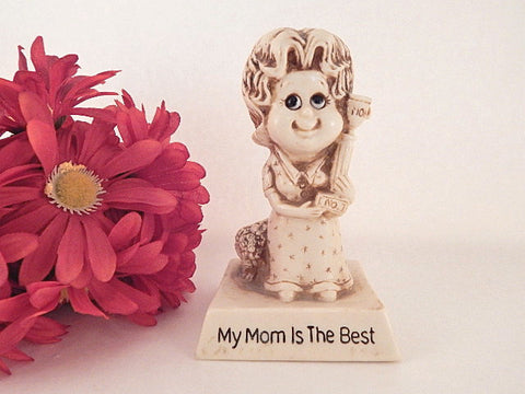Mother Trophy Figurine My Mom is the Best Statuette Vintage 1978 Russ Berrie Mom Award Mothers Day Gift Collectible