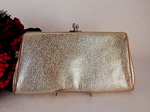 Evening Bag Convertible Clutch Chain Handle Vintage Handbag Festive Gold Holiday Purse Black Tie Foirmal Accessory
