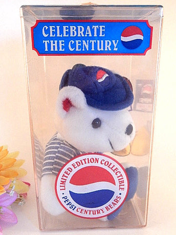 Pepsi Teddy Bear Celebrate the Century Limited Edition 2000 Lil Leaguer NIB