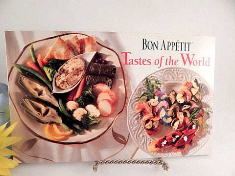 Tastes of the World Cook Book Bon Appetit Conde Nast Softcover Vintage 1996 International Cuisine Fine Dining Recipes