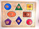 Wooden Puzzle Shapes and Colors Hand Crafted Melissa and Doug Educational Toy for Children