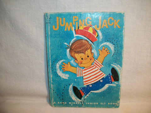 Jumping Jack Children's Picture Story Book Vintage 1962 by Diane Sherman Color Illustrations Rand McNally Collectible Junior Elf Book
