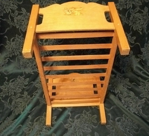 ... Wooden Slat Doll Bed Antique Girls Toy Furniture With Maryu0027s Little  Lamb Decals Collectible Doll Accessory