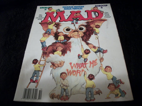 MAD Magazine October 1990 Edition 298 Alfred E Neuman Spoof Satire Comics Spy vs Spy