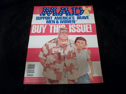 MAD Magazine September 1991 Edition 305 Alfred E Neuman Spoof Satire Comic Cartoon Jokes Spy vs Spy Man Cave Collectible