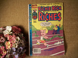 Richie Rich Poor Little Rich Boy Comic Book Harvey World Issue 51 February 1981 Man Cave Decor Gift for Him Guy Teen Collectible Magazine
