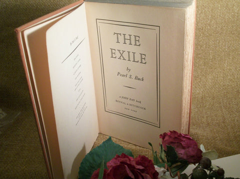 The Exile Pearl S Buck Antique Book1936 Edition Hardcover Classic Fiction American Literature Home Library