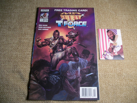 NOW Comics Superhero Comic Book Mr. T and the T Force with Trading Card Oct 1993 Vol 3, War Action Collectible Pristine Condition